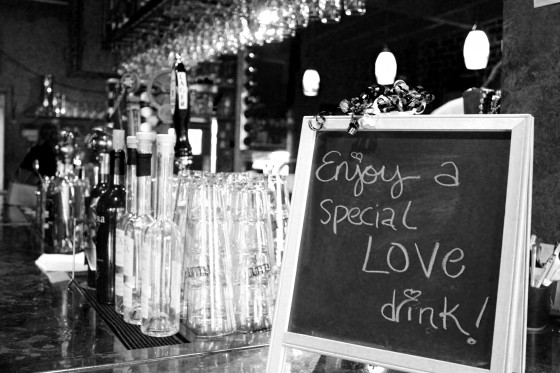 love drink sign